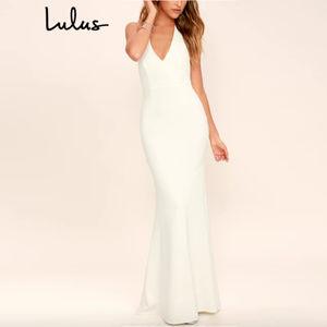 Lulus - 'Love Potion' Lace Halter Maxi Dress